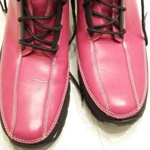 Timberland Pink & Black Ankle Boots